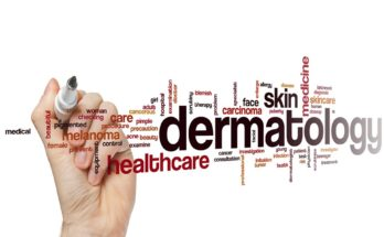 dermatology-related word cloud