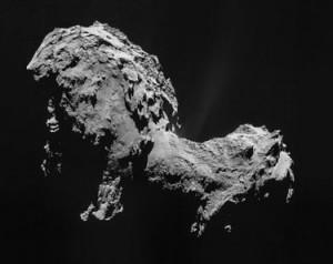 圖為羅塞塔號拍攝之 67P/C-G 彗星影像
