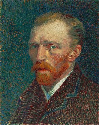 梵谷 (Vincent Willem van Gogh),荷蘭後印象派畫家。來源:https://en.wikipedia.org/wiki/Vincent_van_Gogh