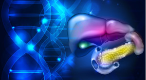 Gastrointestinal tract DNA background
