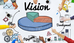 61658167 - vision development pie graph concept