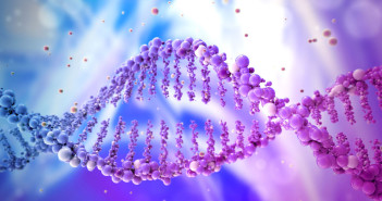 34032305 - dna double helix in abstract background