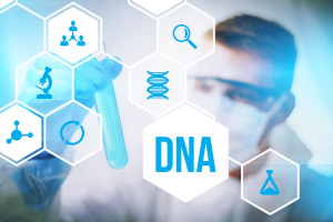 49798773 - dna molecule research or forensic science use.