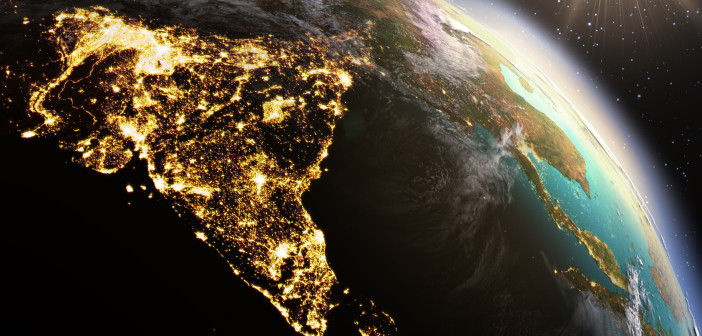 42501220 - planet earth asia zone. elements of this image furnished by nasa