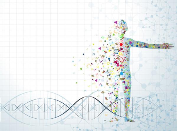37007241 - molecule body concept of the human dna