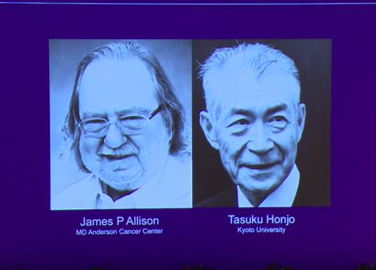 二位免疫檢查點先驅 獲 2018 年諾貝爾生理及醫學奬冠冕